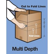 "Vari-Depth Corrugated Boxes, 26"" x 18"" x 16"", 10/Bundle"