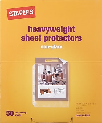 Staples® Heavyweight Sheet Protectors, Clear, 11