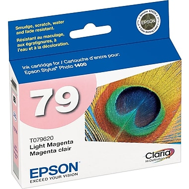 Epson® 79 (T079620) High-Capacity Ink Cartridge, Light Magenta