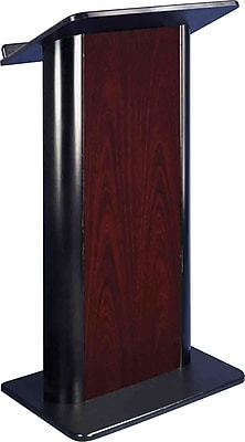 AmpliVox Sound Systems Color Panel Floor Lectern, Jewel Mahogany (SN3090)