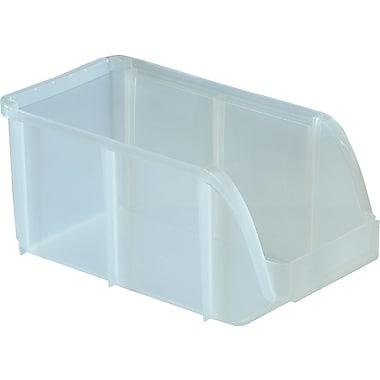 staples medium stacking bin clear