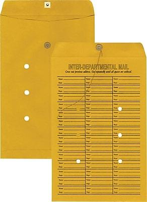 Staples Button-and-String Inter-Departmental Kraft Envelopes, 10
