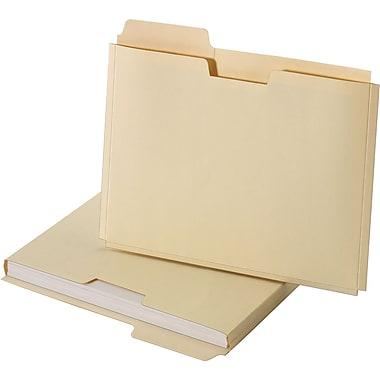 Staples® File Folder Jackets, Letter, Manila, 150 Sheet Capacity, 10/Pack