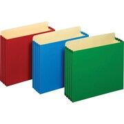 """Staples® 3-1/2"""" Heavy Duty Expanding File Drawer Pockets, Letter Size, Assorted Colors, 4/Pack (FC1524E4ASSTS)"""
