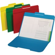 Staples® Top Tab Secure Manila File Folders, 3 Tab, Center Position