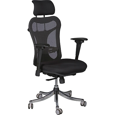 Balt High-Back Mesh Executive Chair, Adjustable Arms, Black