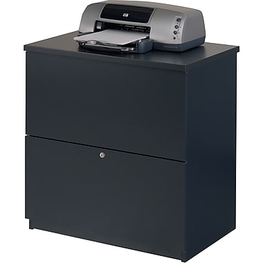 Bestar Commercial Lateral File, 2-Drawer, Charcoal