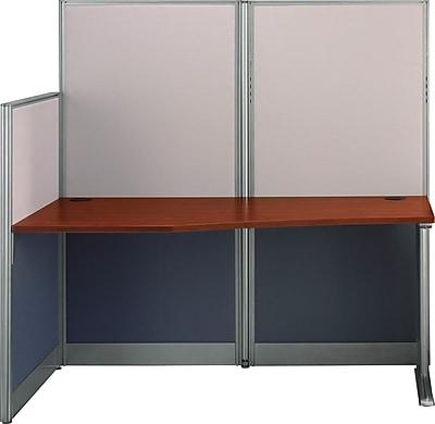 Bush Business Furniture Office in an Hour 65W x 33D Straight Workstation, Hansen Cherry (WC36492-03KFA)