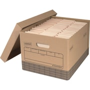 Staples® Medium Duty 100% Recycled Storage Boxes, Letter/Legal Size
