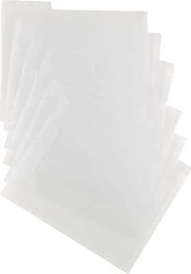 Staples Poly File Folders, 3-Tab, Letter Size, Translucent Clear, 6/Pack (11863)