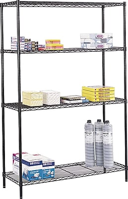Safco® Commercial Wire Shelving, 500 lbs. Support, 72