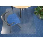 "Floortex Polycarbonate Chairmat for Low- to Med-Pile Carpets, Rectangular, 47"" x 35"""