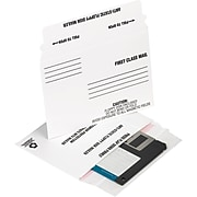 """Staples® QuickStrip 3-1/2"""" Disk Mailers, 25/Pack"""