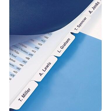 GBC® Customizable Index Tabs, 5 Tab Set, White, 1 set per pack