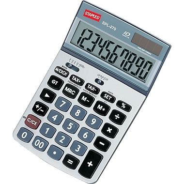 Staples SPL-270 10-Digit Display Calculator with Tax Functions