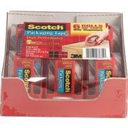 "Scotch Heavy Duty Shipping Tape, 1.88"" x 800"", Clear, 6/Pack"