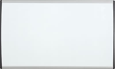 Quartet® Arc™ Cubicle Whiteboard, Magnetic, Aluminum Frame, 24