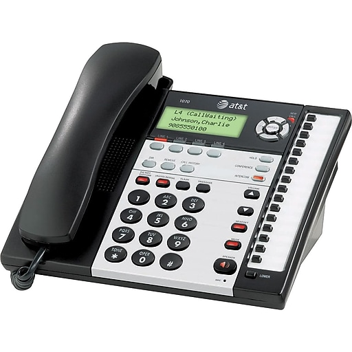 AT&T 1070 4-Line Small Business Telephone with Caller ID ...