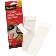 "Scotch Envelope Package Sealing Tape Strips, 2"" x 6"", Clear, 2/Pack"