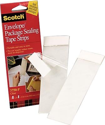Scotch Envelope Package Sealing Tape Strips, 2