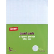 "Staples® 5 x 5 Graph Pads, 8-1/2"" x 11"""