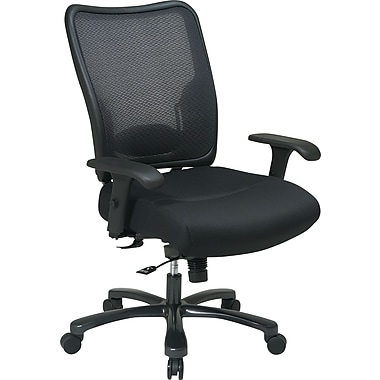 Office Star SPACE Mesh Computer and Desk Office Chair, Adjustable Arms, Black (75-37A773)