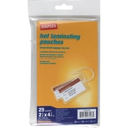 Staples 5mil Luggage Tag Sized Thermal Laminating Pouches, 25/Pack