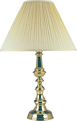 Ledu Traditional Incandescent Table Lamp, Polished Brass