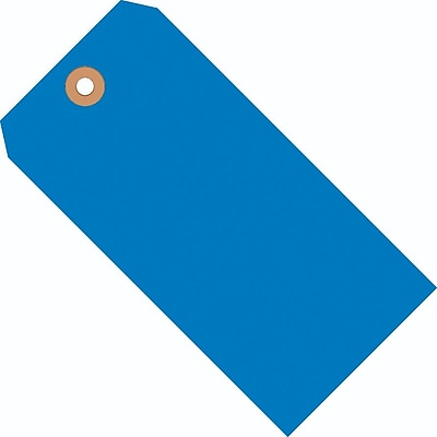 "Blue Shipping Tags, #4, 4-1/4"" x 2-1/8"", 1000/Case"
