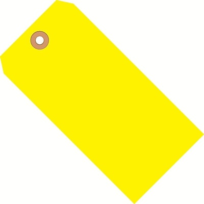 Yellow Shipping Tags, #6, 5-1/4