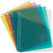 Staples® Divider Pockets, 3-Hole Punched, 5 Set, Assorted Colors