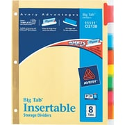 Avery(R) Big Tab(TM) Insertable Dividers 11111, 8-Tab Set
