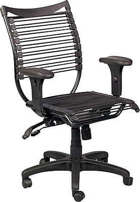 Balt Seatflex Office Manager's Chair, Adjustable Arm, Black
