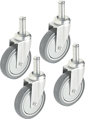 Alera Industrial Wire Shelving Casters, 4/Pack