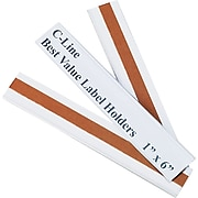 Label Holders, 1 x 6, 50 Holders/Pack
