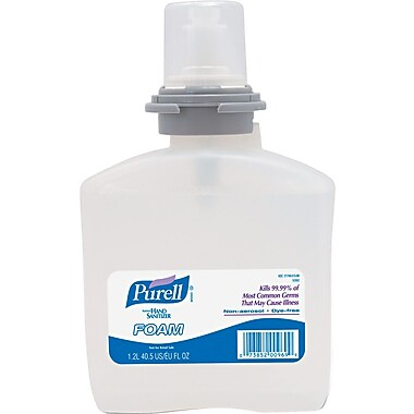 Purell® TFX™ Instant Hand Sanitizer, Foam, Refill, 1,200 ml.