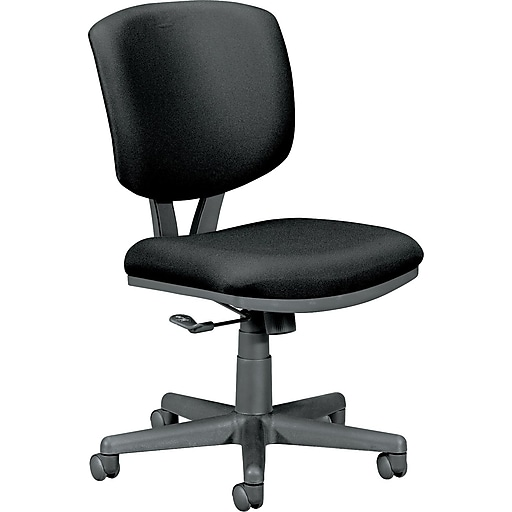 hon volt fabric computer and desk office chair armless black