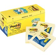 "Post-it® Pop-up Notes Cabinet Pack, 3"" x 3"", Canary Yellow, 18 Pads/Pack (R330-18CP)"