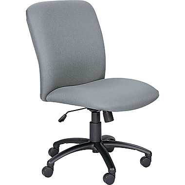 Safco Uber Big & Tall Fabric Computer and Desk Office Chair, Armless, Gray (3490GR)