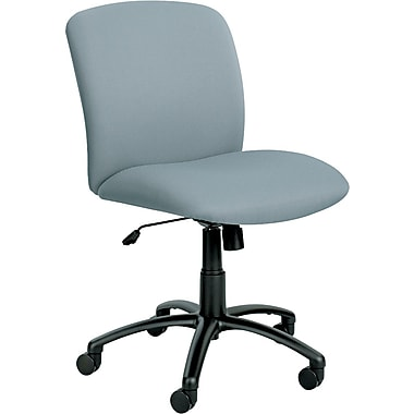 Safco Big & Tall Fabric Computer and Desk Office Chair, Armless, Gray (3491GR)