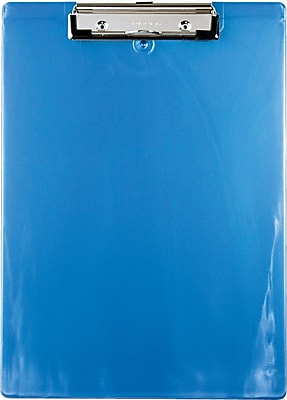 Recycled Plastic Ice Blue, Letter/A4 size, Low Profile Clip, Inch/Metric Ruler Edges
