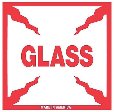 Tape Logic Glass Staples® Shipping Label, 4