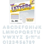 "TREND® Ready Letters® Sparkles Letter Set, 4"" Height, Silver Sparkle, 1/Set (T1613)"