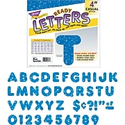 "Trend Sparkle Uppercase Ready Letters®, 4"", Blue, 1/Set (T1617)"
