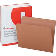 "Universal Kraft Top Tab File Folders, Brown, Letter, Holds 8 1/2""H x 11""W, 100/Bx"