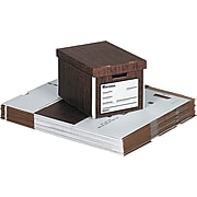 """Universal Economy Storage File, Letter/Legal Size, Woodgrain, Stacking Strength 750 lbs., 12"""" x 10"""" x 15 1/8"""", 12/Ct"""