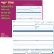 Staples® - Jeux de notes de service internes, sans carbone, triplicatas, bilingues, paq./250