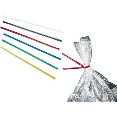 Liens twist en vinyle, 4 po, rouge, bte/2000