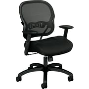 basyx by HON Sandwich Mesh Computer and Desk Office Chair, Adjustable Arms, Black (HVL712MM10.COM) NEXT2017