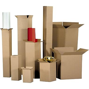 Boîtes en carton ondulé, 10 po x 10 po x 3 po, 25/lot